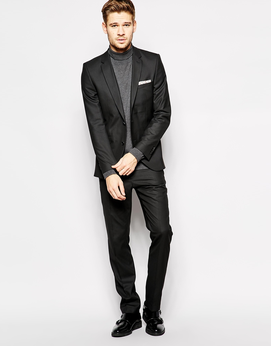 Selected Selected Suit Jacket In Skinny Fit in Black for Men | Lyst
