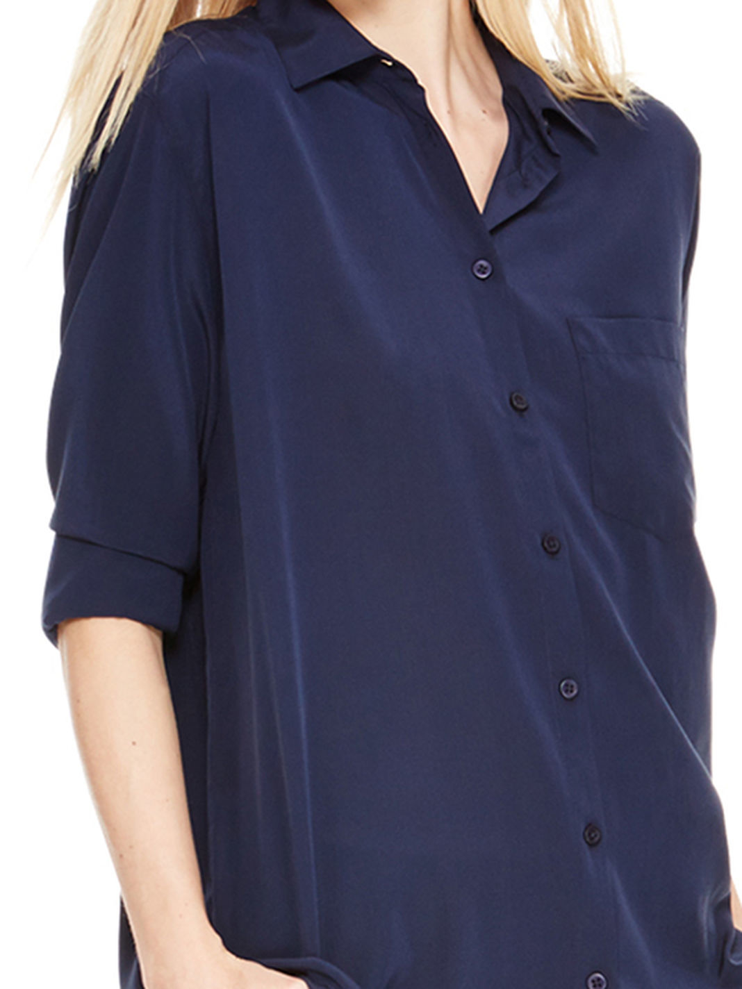 Dkny Collared Shirt With Chest Pocket in Blue | Lyst