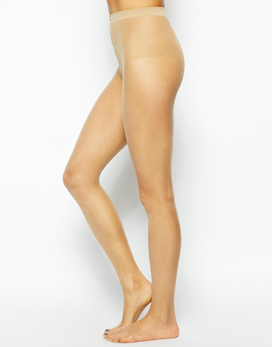 684488ba8 Pretty Polly 8 Denier Oiled Tights in Natural - Lyst