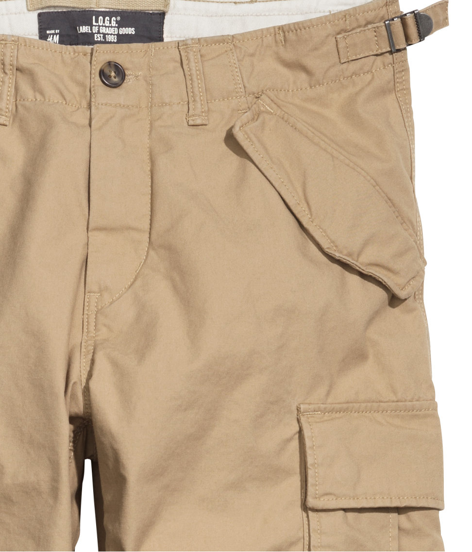 Fantastic Hu0026m Cargo Pants In A Lyocell Blend In Natural | Lyst