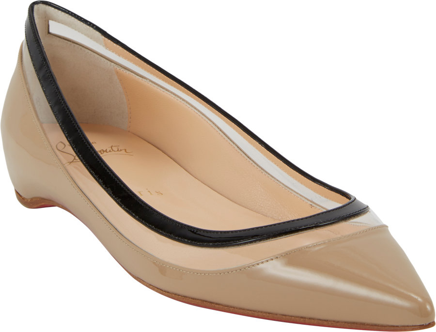 christian louboutin ponyhair pointed-toe flats