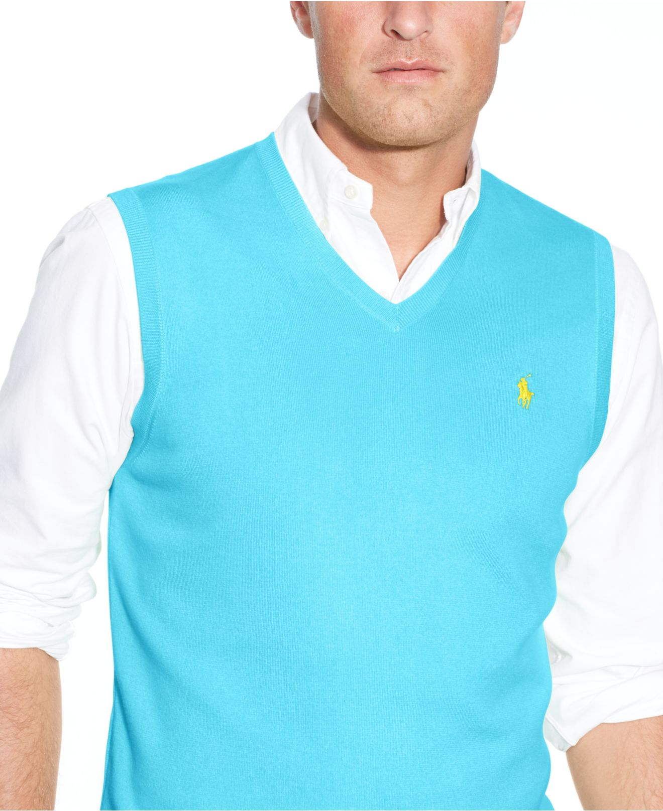 Lyst Polo Ralph Lauren Big And Tall Pima Cotton V Neck Sweater