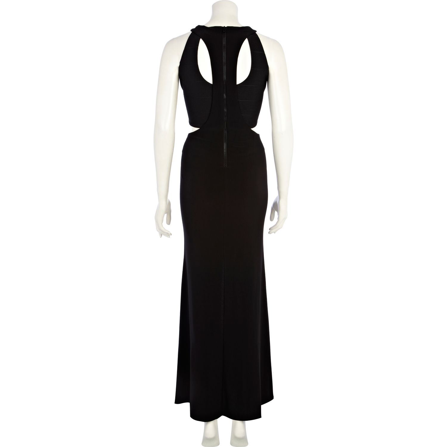 River Island Cut Out Racer Back Maxi Dress in Black