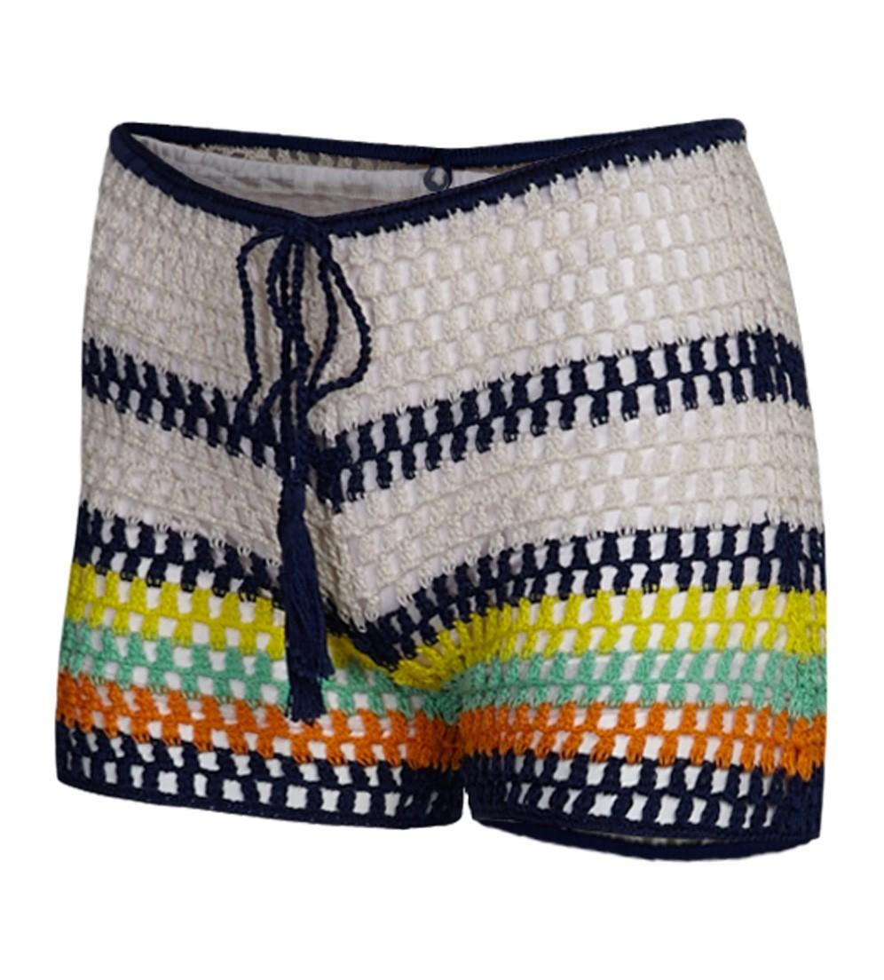 Zebra crocheted cotton shorts Anna Kosturova WjW1jeF