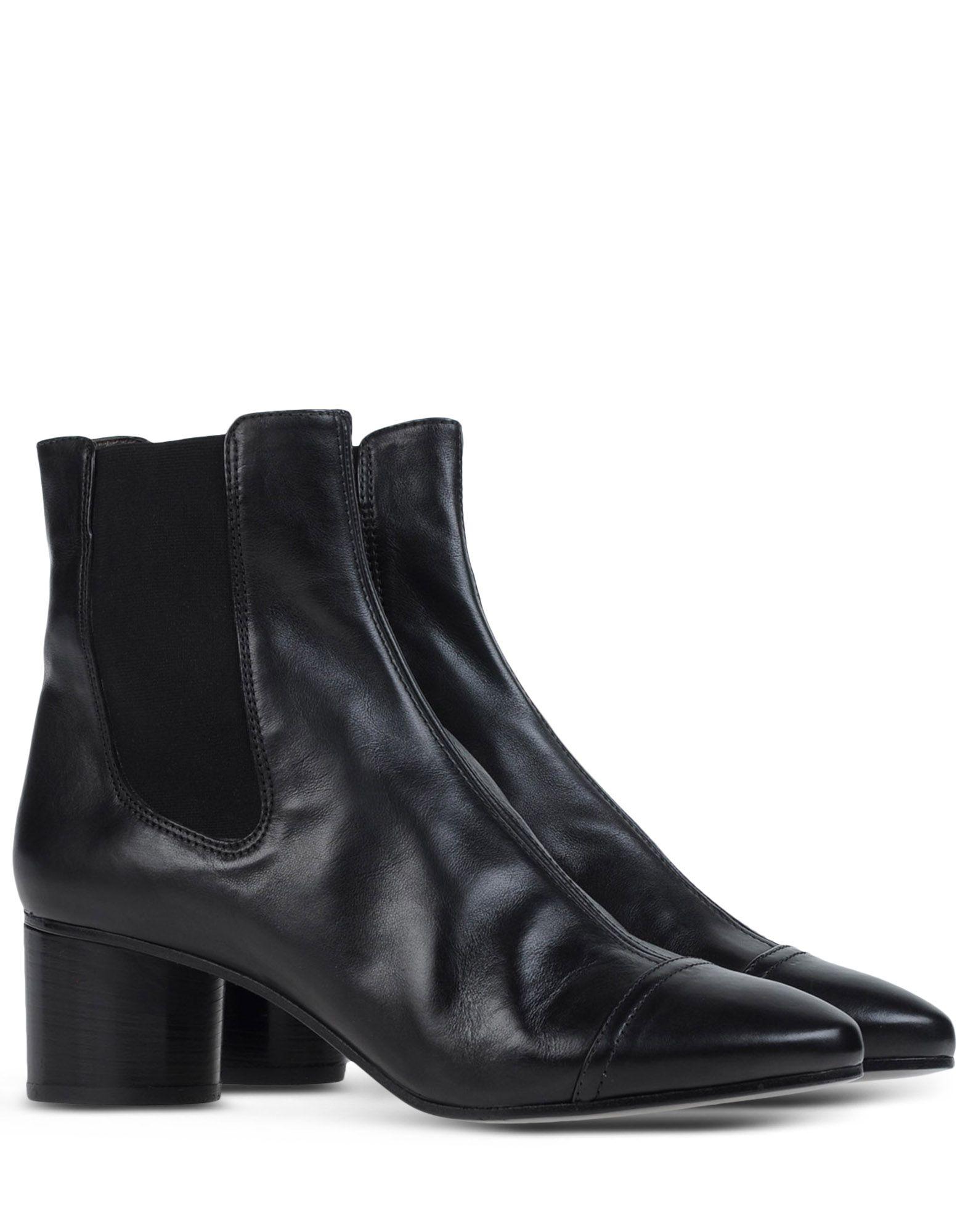 isabel marant heeled ankle boots in black lyst. Black Bedroom Furniture Sets. Home Design Ideas