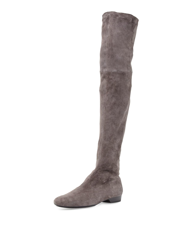 robert clergerie fissaj stretch suede the knee boot