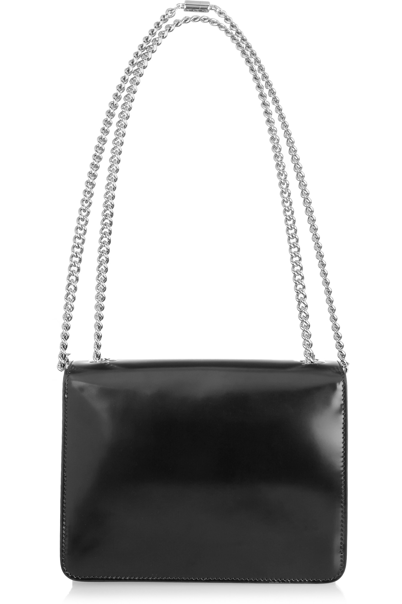 be61b2d6ee46bf Gucci Linea B Small Leather Shoulder Bag in Black - Lyst