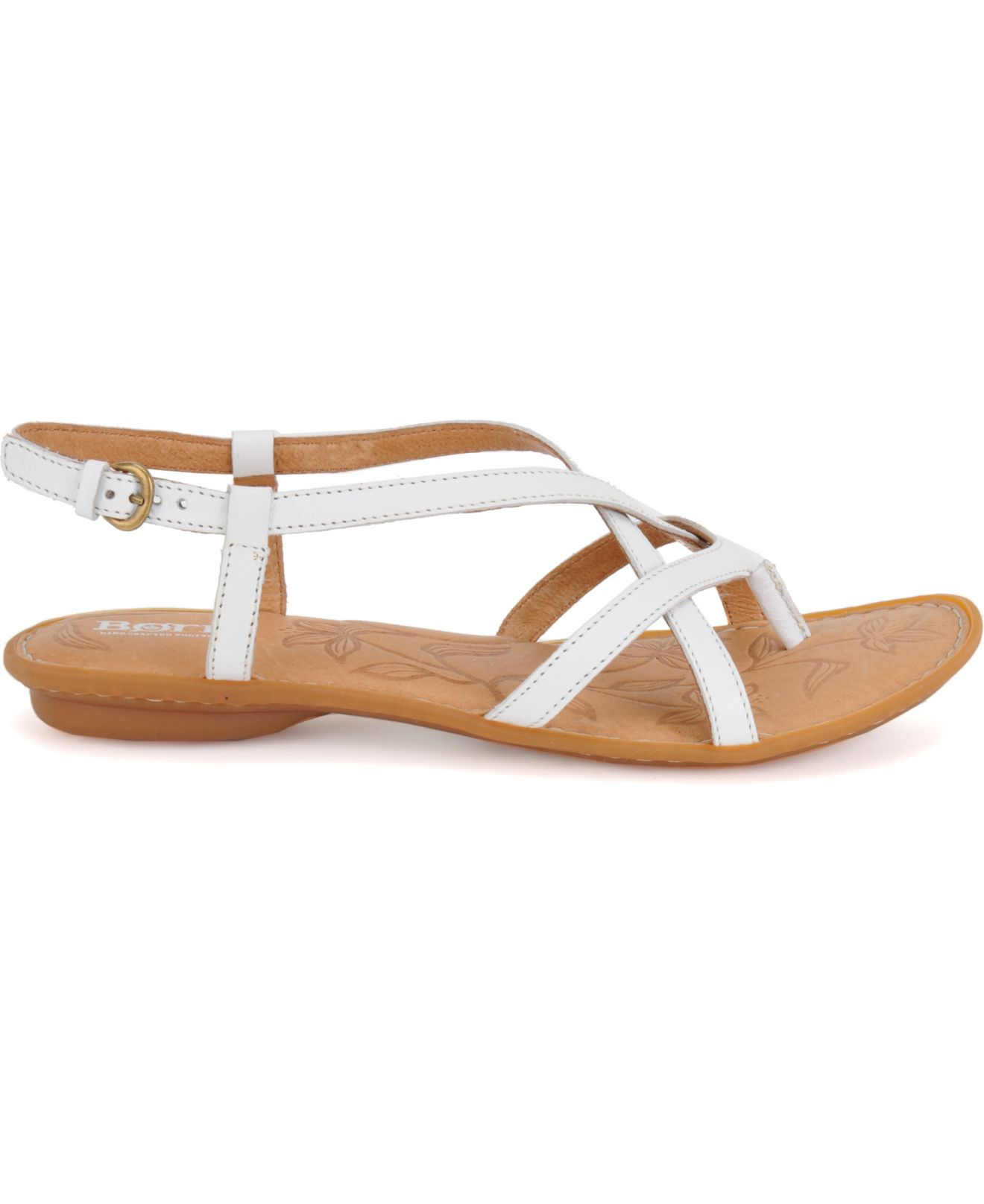 Lyst Born Mai Flat Sandals In White