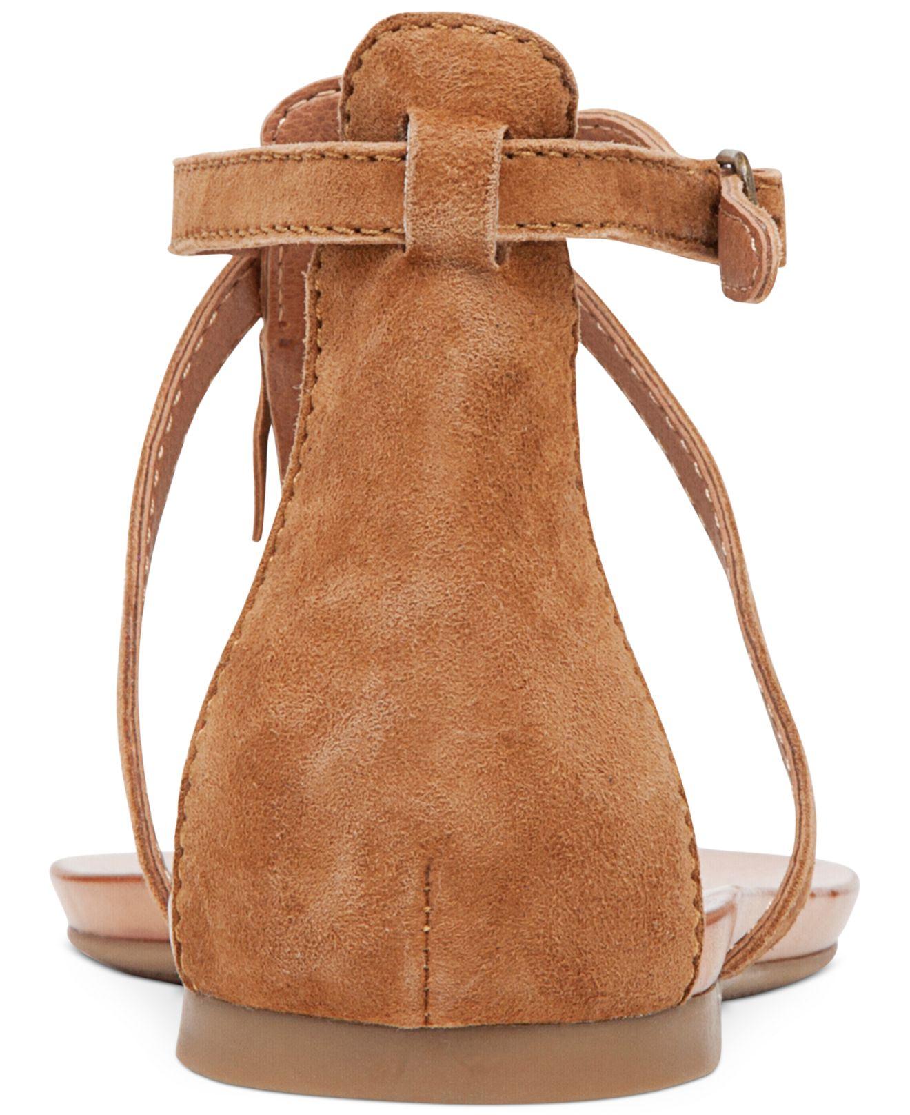 Lyst Lucky Brand Women S Wekka Fringe Flat Thong Sandals