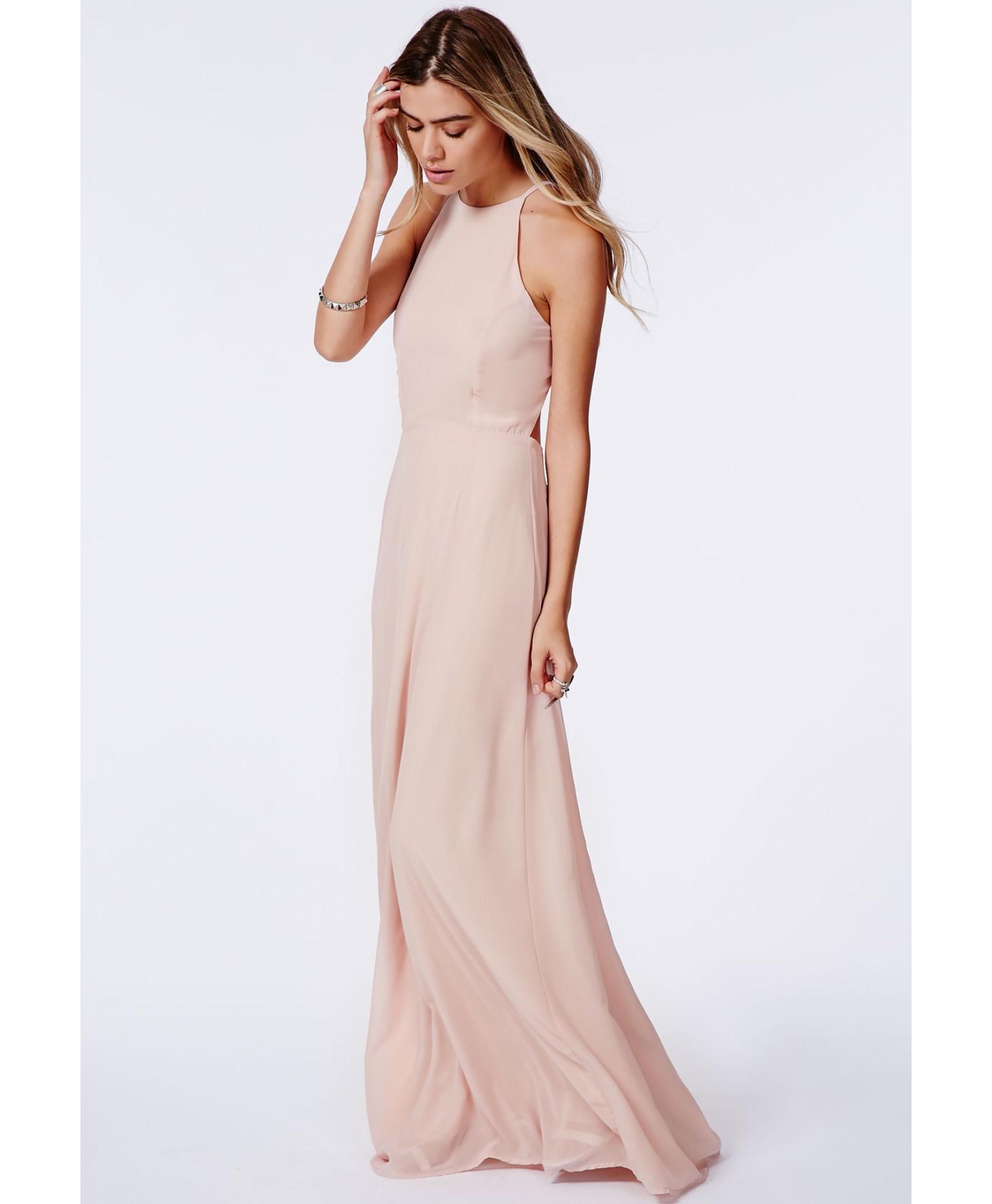 Long Lace V-Neck Ivory Cheap Prom Dress - PromGirl