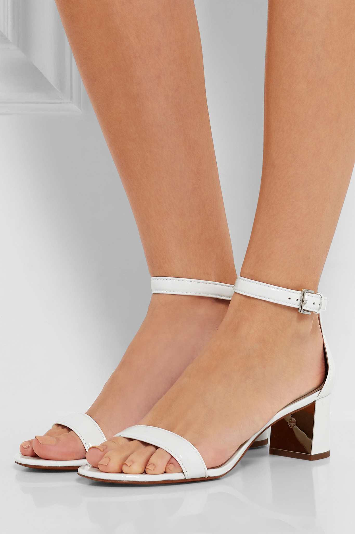 353d16ebf Lyst - Tory Burch Cecile Patent-leather Sandals in White