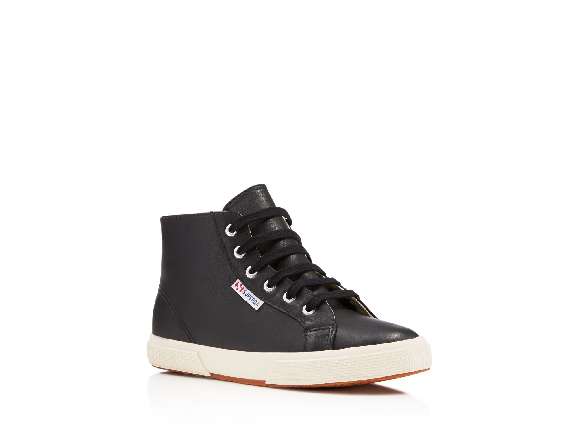 Superga Nappaw Lace Up High Top Sneakers in Black