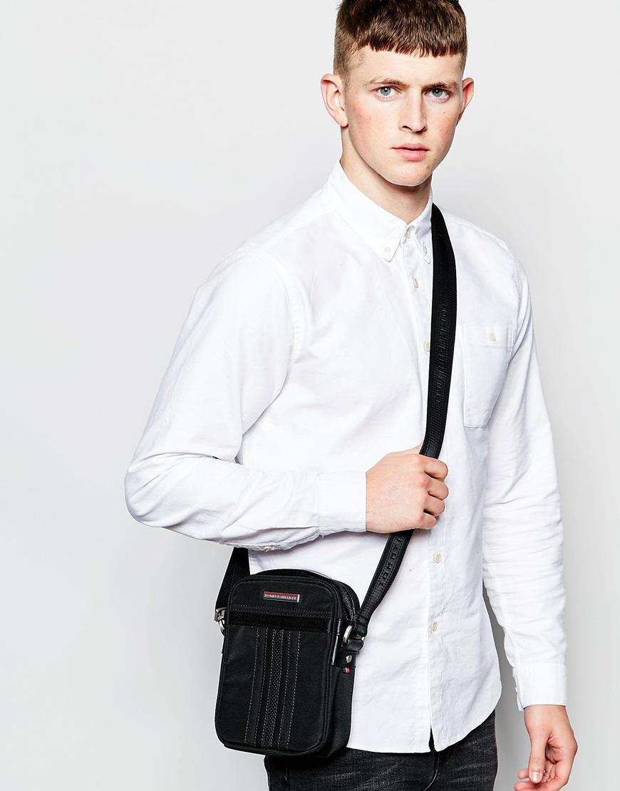 lyst tommy hilfiger jeremy messenger bag in black for men. Black Bedroom Furniture Sets. Home Design Ideas