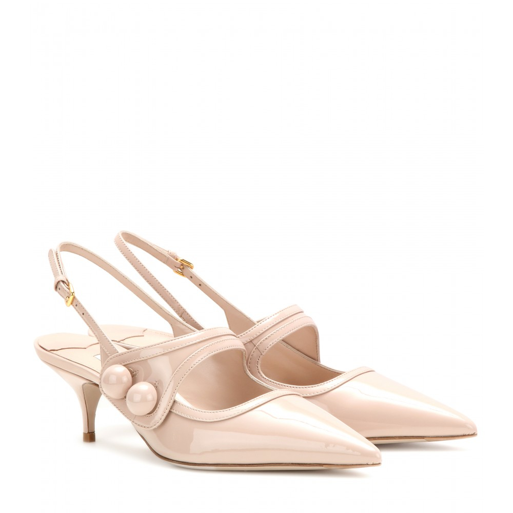 Pale Pink Kitten Heel Shoes