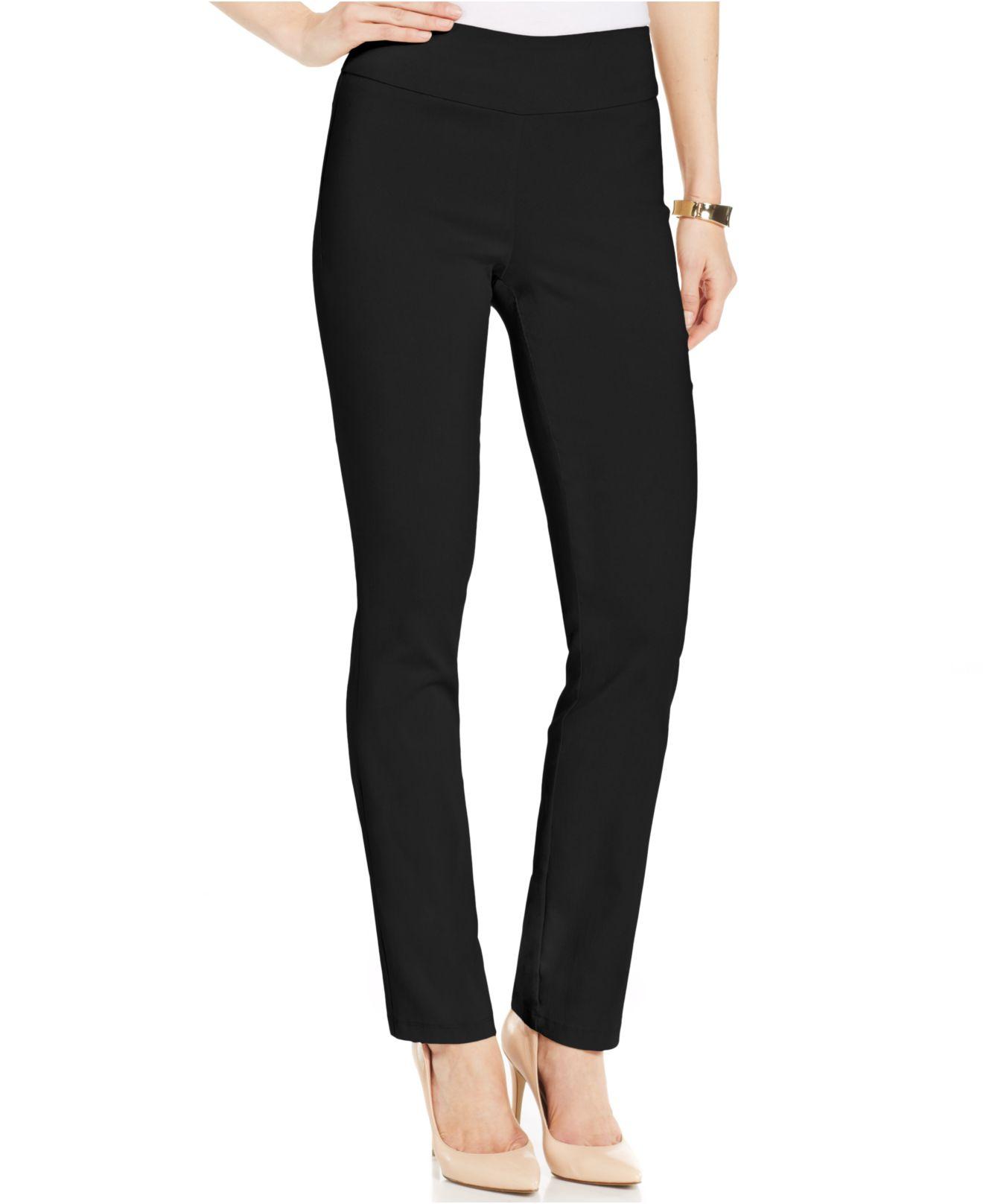 Brilliant  All Kasper Deep Black Women39s Size 16P Petite Straight Leg Dress Pants
