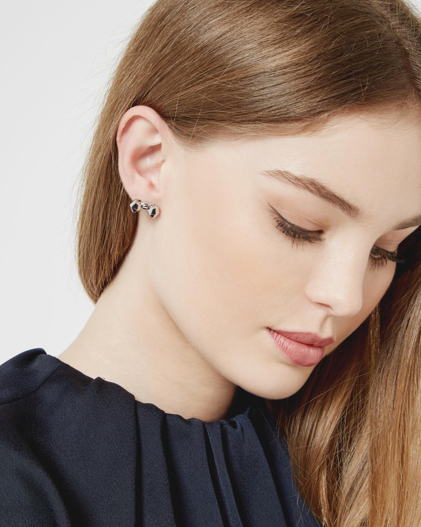 Ted Baker Bow Stud Earrings in Metallic