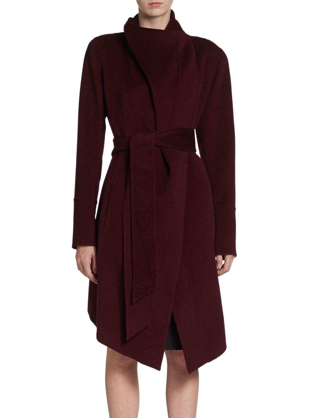 donna karan new york draped cashmere coat in red wine lyst. Black Bedroom Furniture Sets. Home Design Ideas