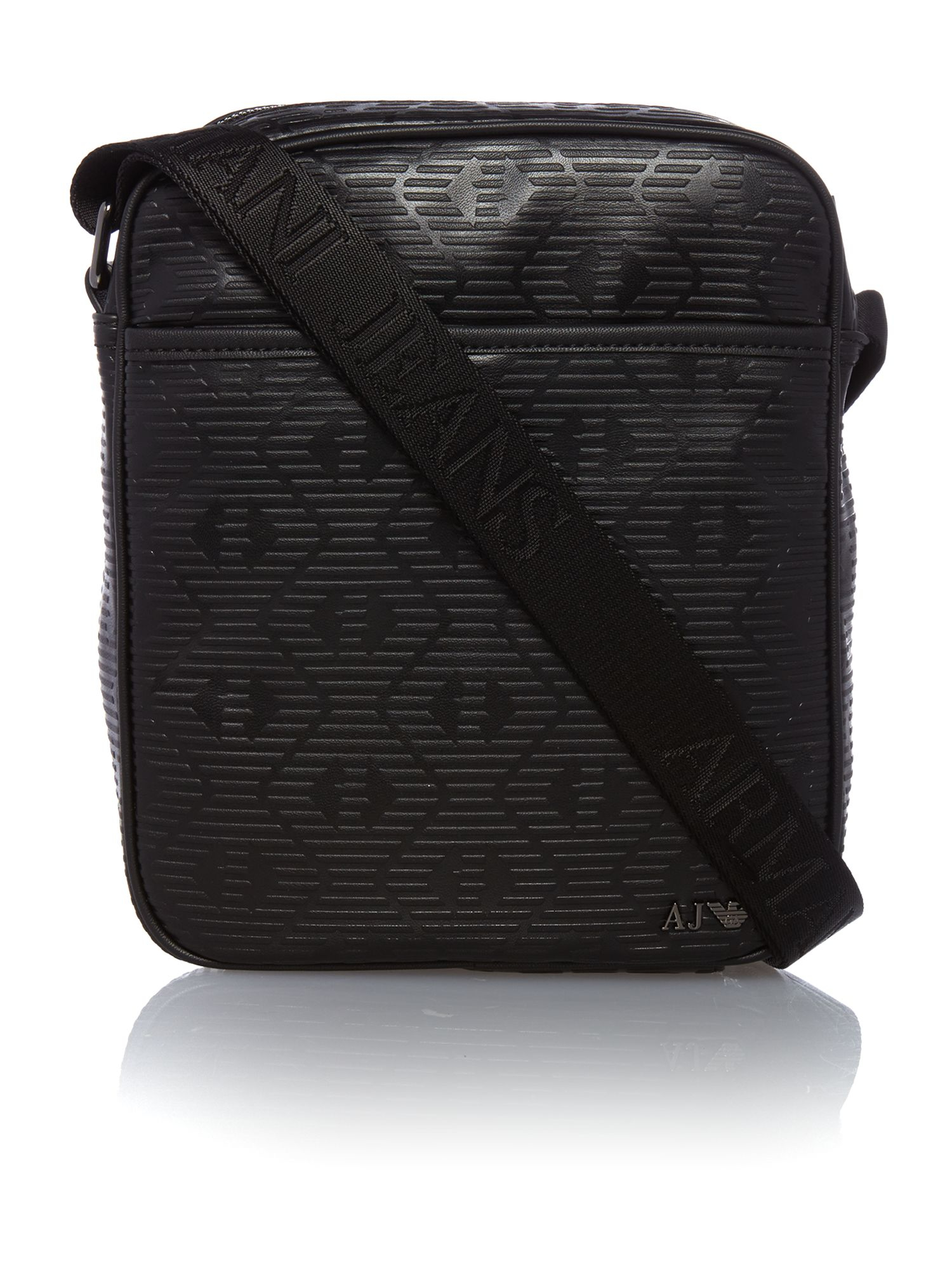 Armani jeans Armani Embossed Eagles Small Man Pouch in Black for ...