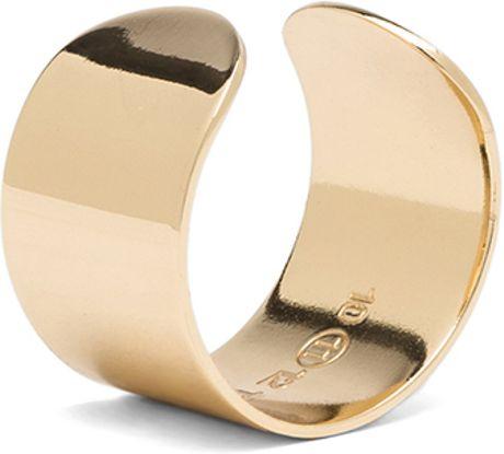 maison martin margiela ring set in gold lyst. Black Bedroom Furniture Sets. Home Design Ideas