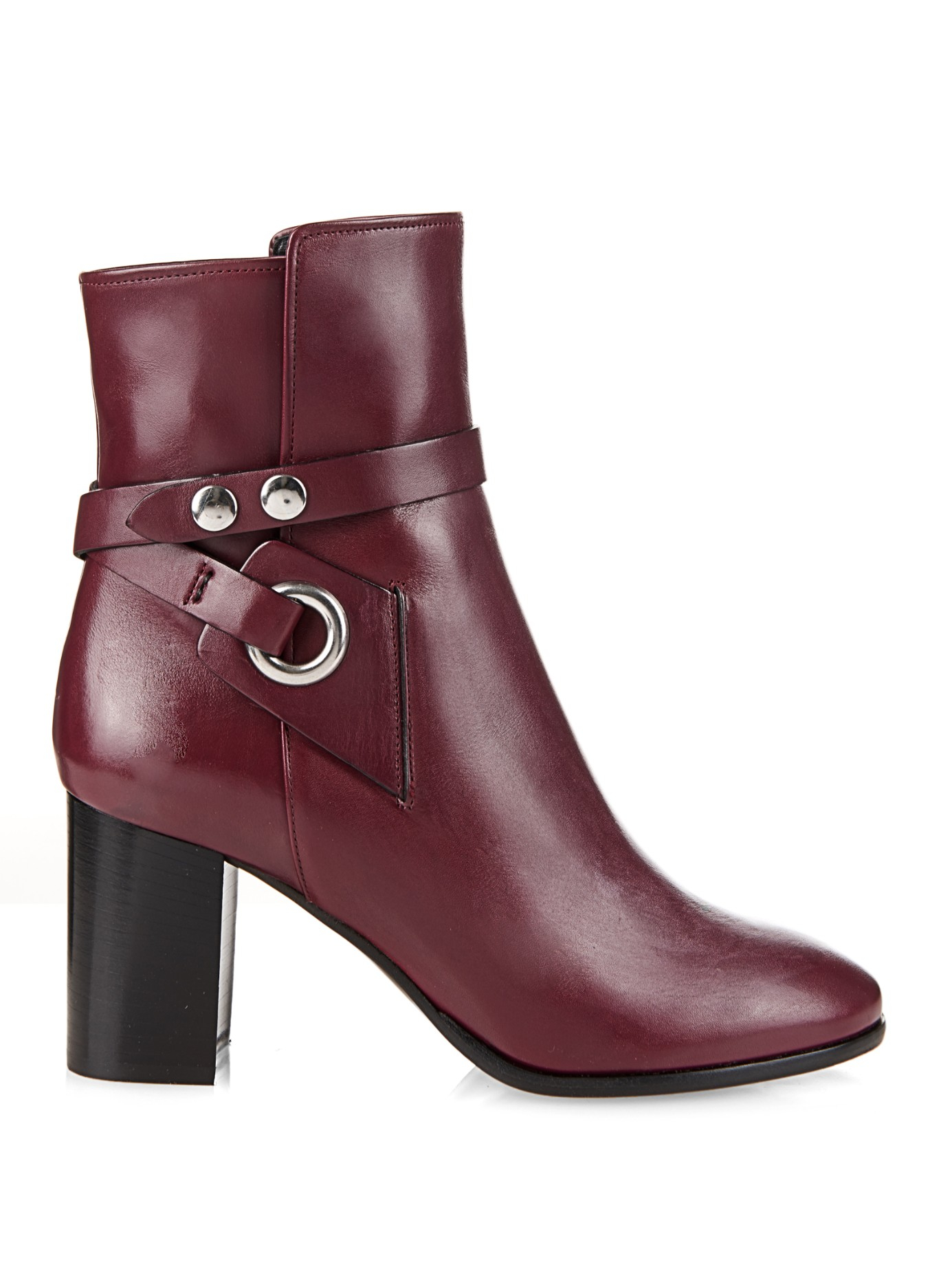 Lyst Isabel Marant Ashes Leather Ankle Boots In Purple