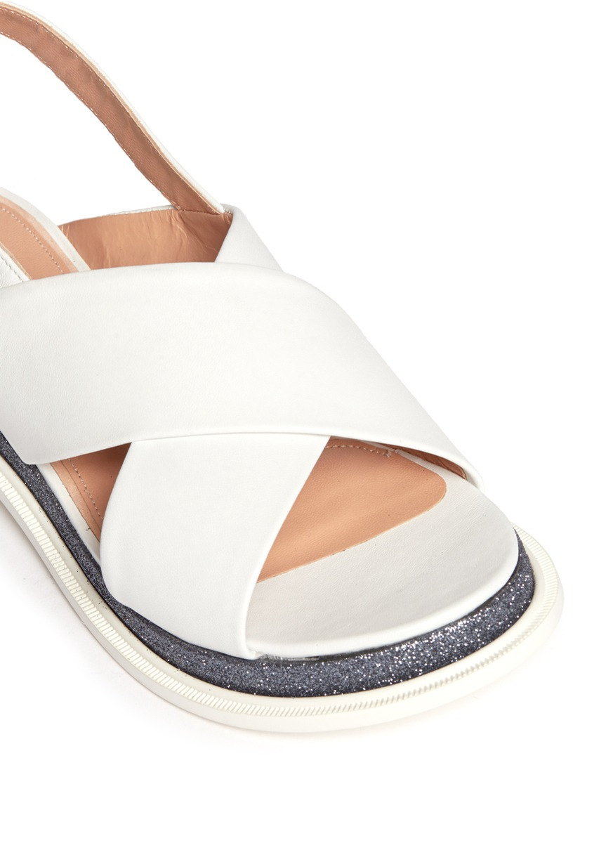 Robert Clergerie Leather Slingback Sandals exclusive online outlet store online perfect sale online shop for cheap price IDfIVUpYci