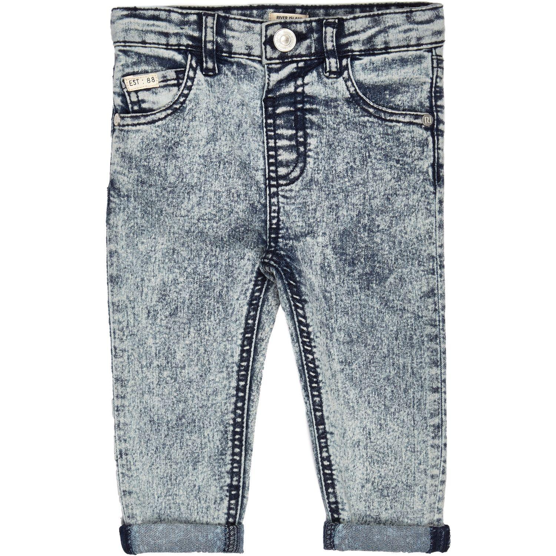 54cb8fd559de River Island Mini Boys Light Blue Acid Wash Jeans in Blue - Lyst