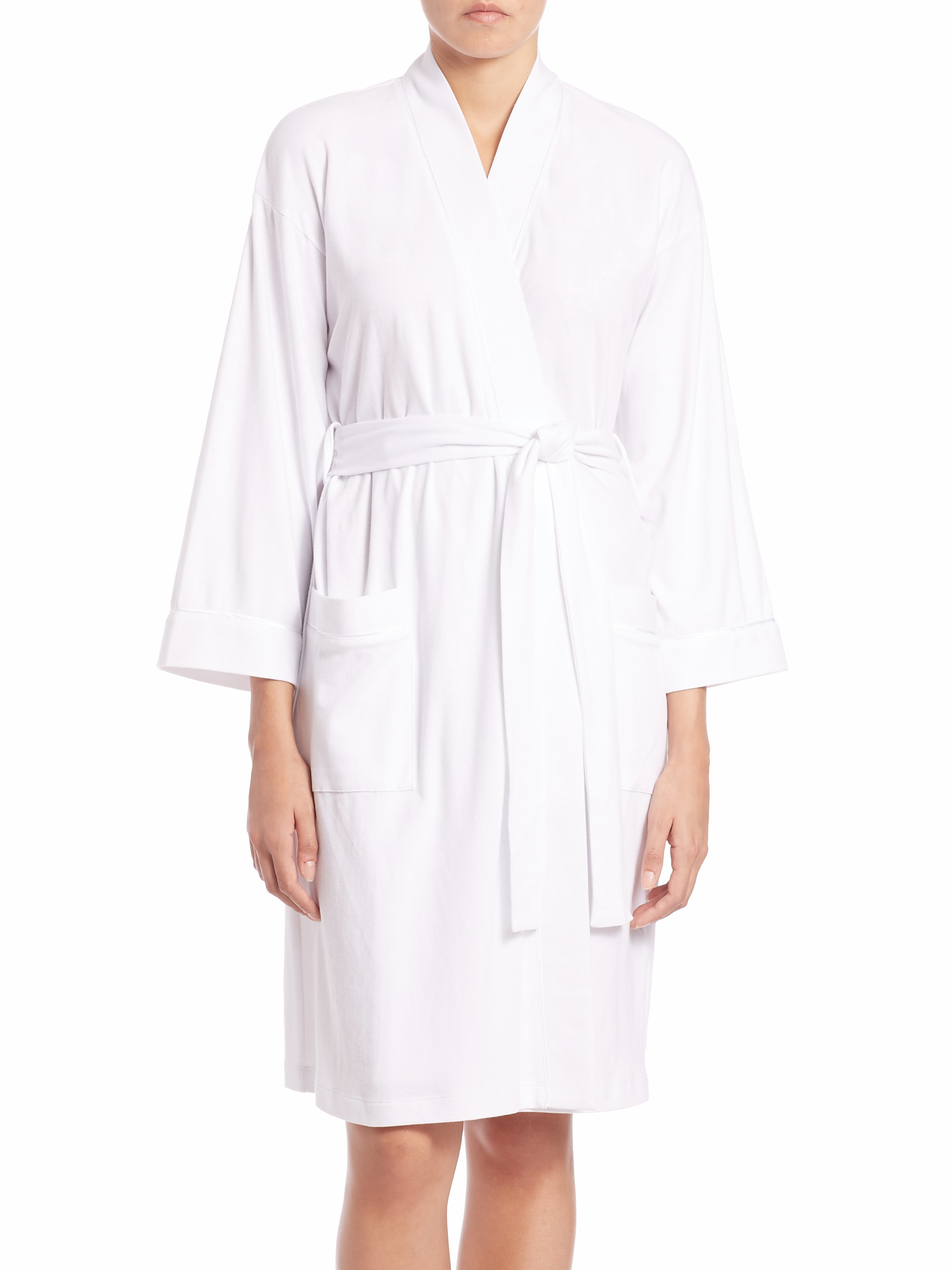Saks fifth avenue collection pima cotton jersey robe in for Saks 5th avenue robes de mariage