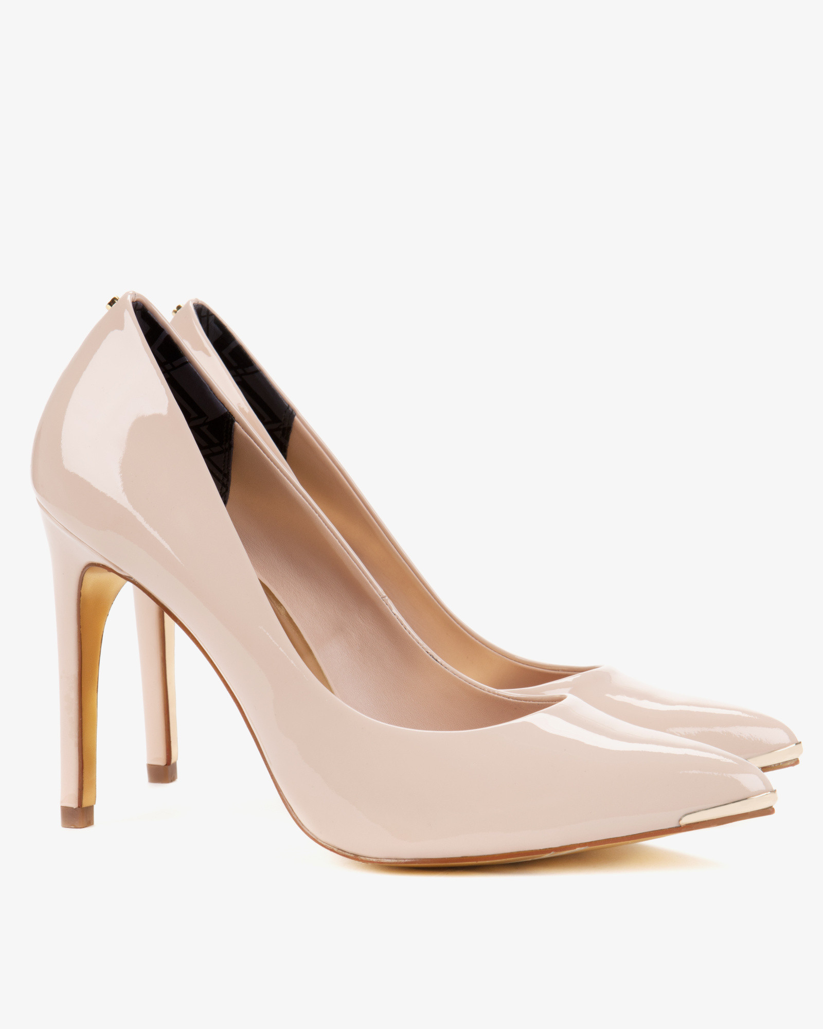 57b80ebf63271 Lyst - Ted Baker Pointed Leather Court Shoes in Natural