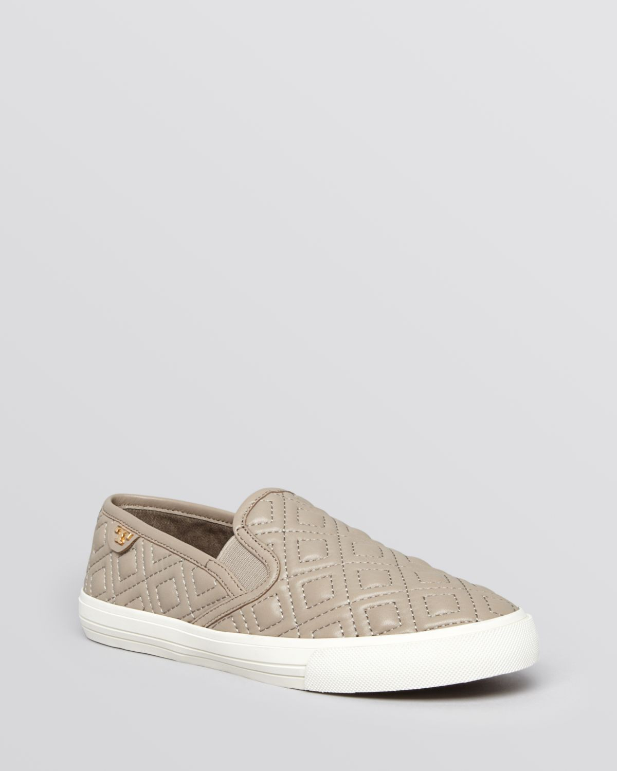 2d732cd2bf39 Lyst - Tory Burch Flat Slip On Sneakers - Jesse Quilted in Gray
