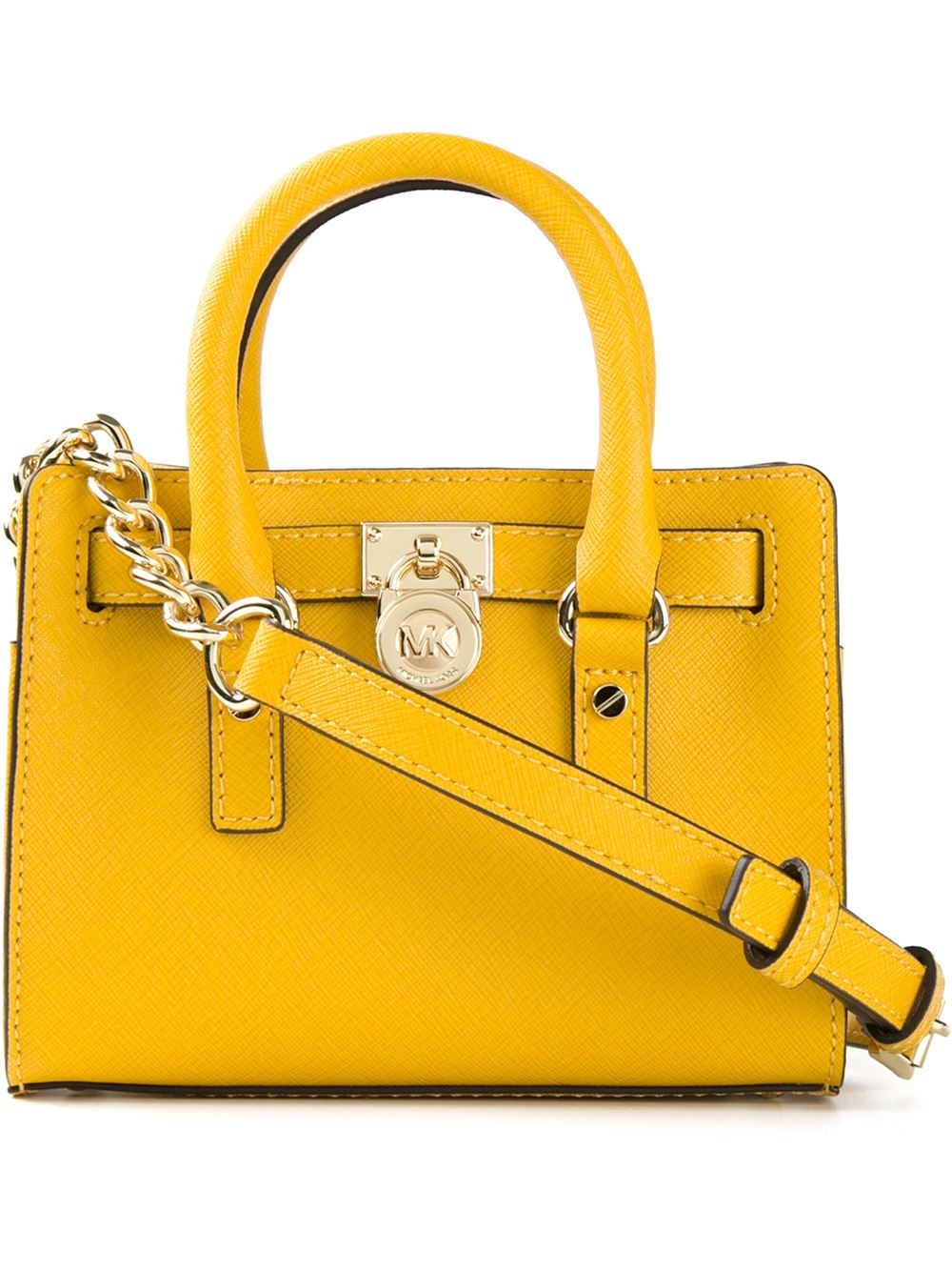 f134027a184625 ... new zealand lyst michael michael kors small hamilton tote bag in yellow  61200 d999a