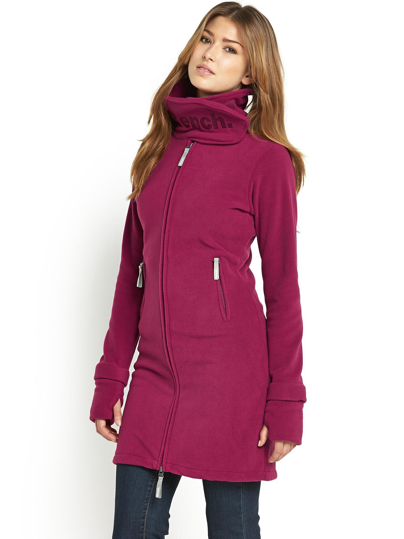 Bench Longline Funnel Neck Fleece In Pink Raspberry Lyst