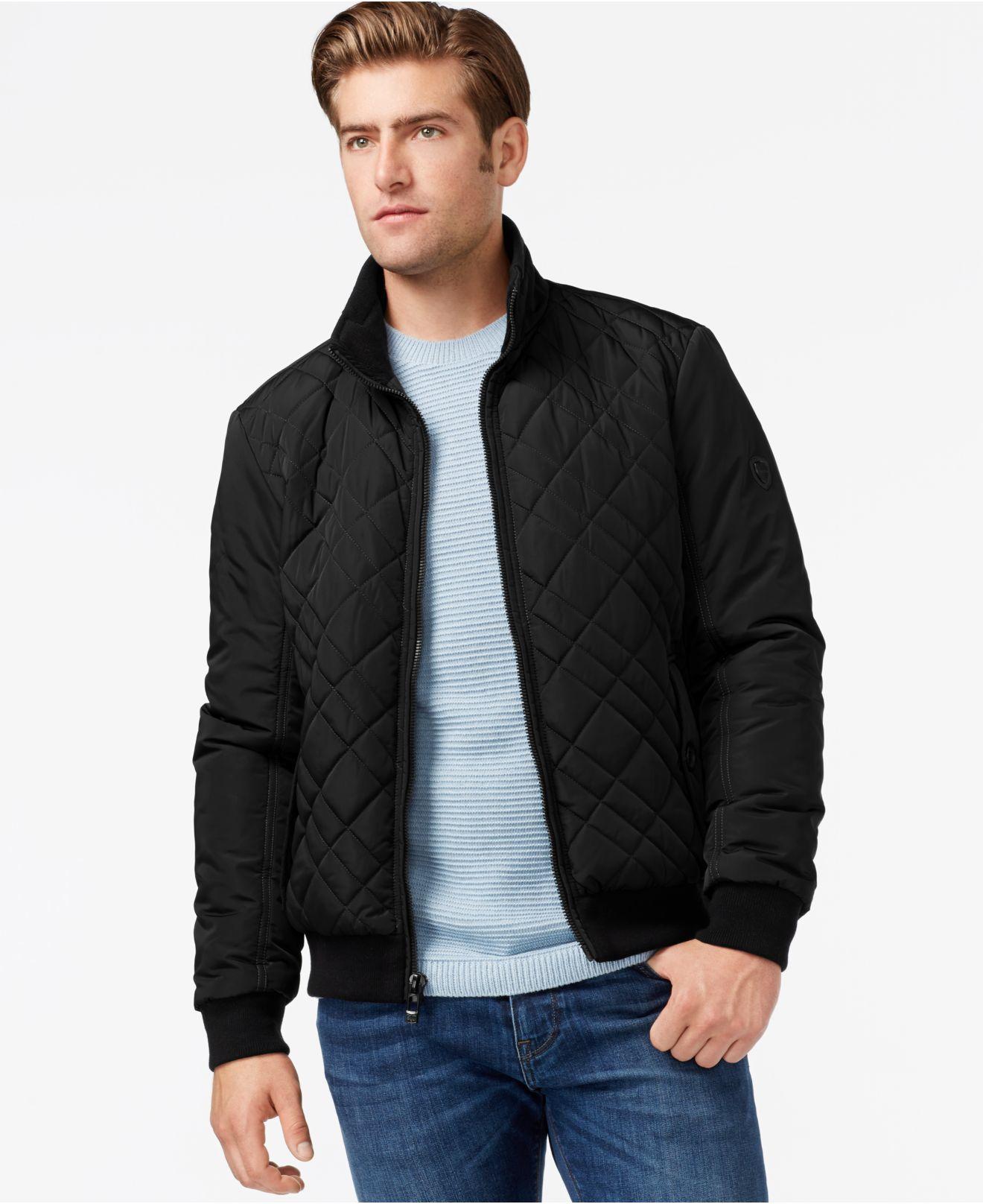 8df3efc73 Calvin Klein Black Men's Quilted Jacket for men
