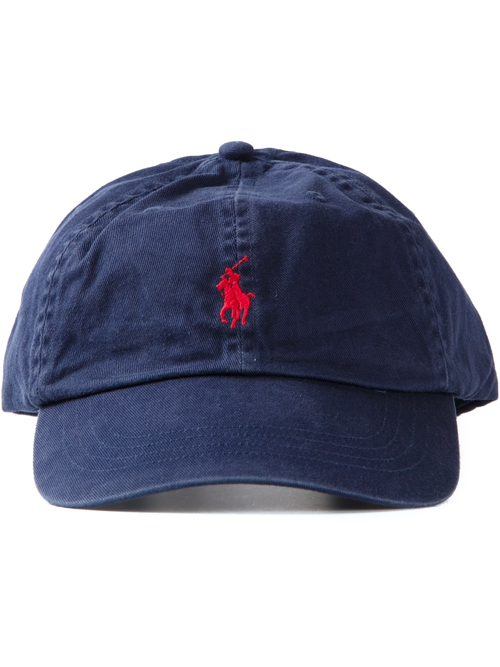 polo ralph lauren logo embroidered baseball cap in blue. Black Bedroom Furniture Sets. Home Design Ideas