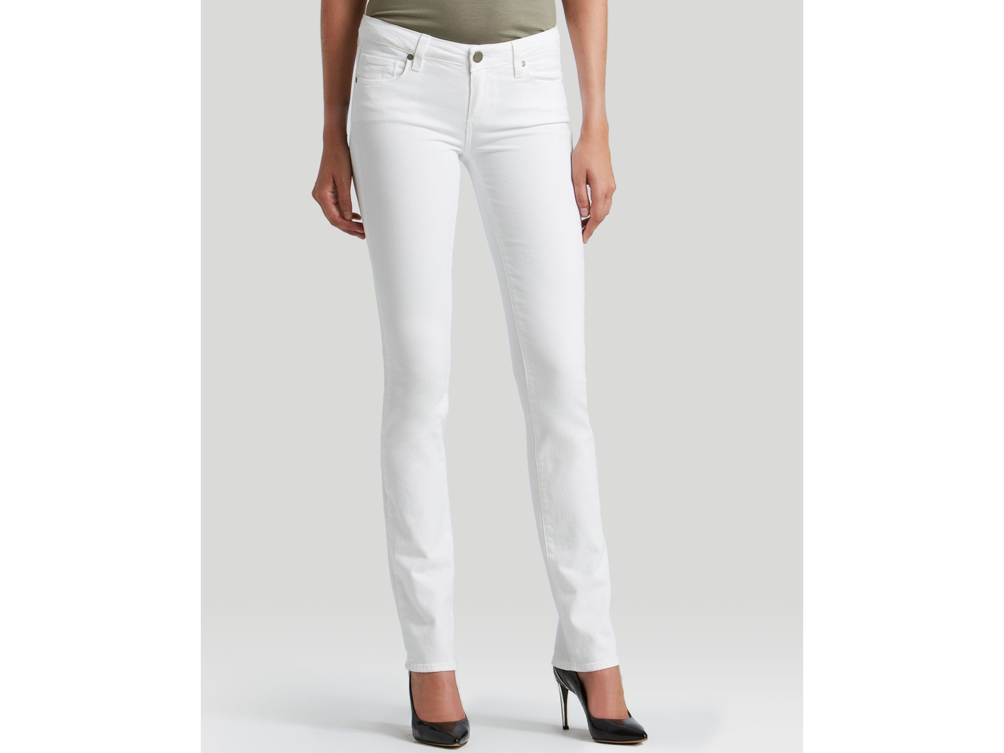 Paige Denim Jeans - Skyline Straight In Optic White in White | Lyst