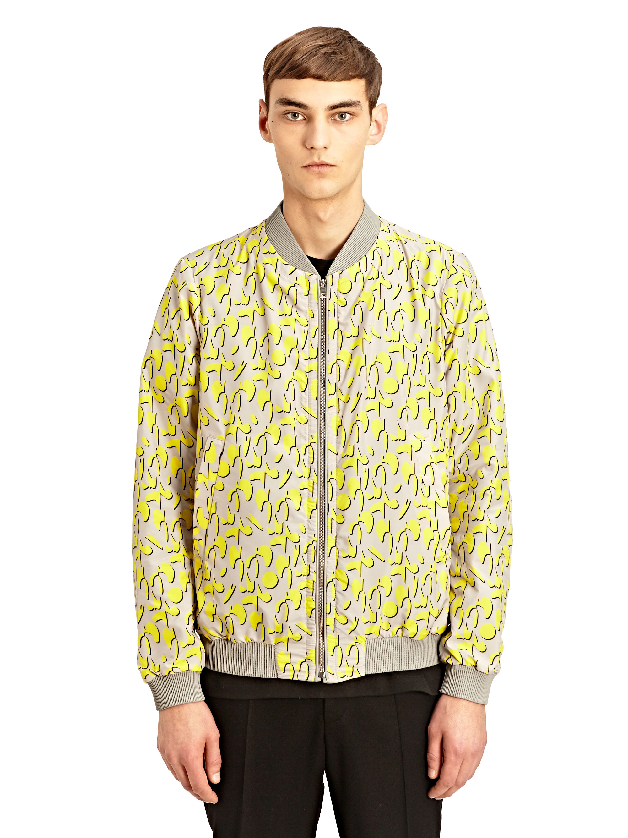 jil sander reversible bomber jacket in yellow for men. Black Bedroom Furniture Sets. Home Design Ideas