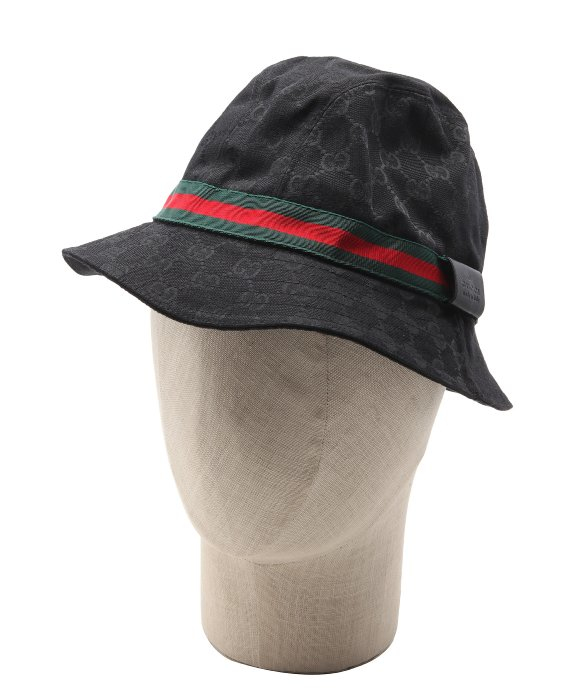 4a7acd175ae Gucci Monogram Bucket Hat Blue Medium  Lyst Gucci Black Sima Canvas Stripe Bucket  Hat In For Men low priced a1eb3 74ab6 ...