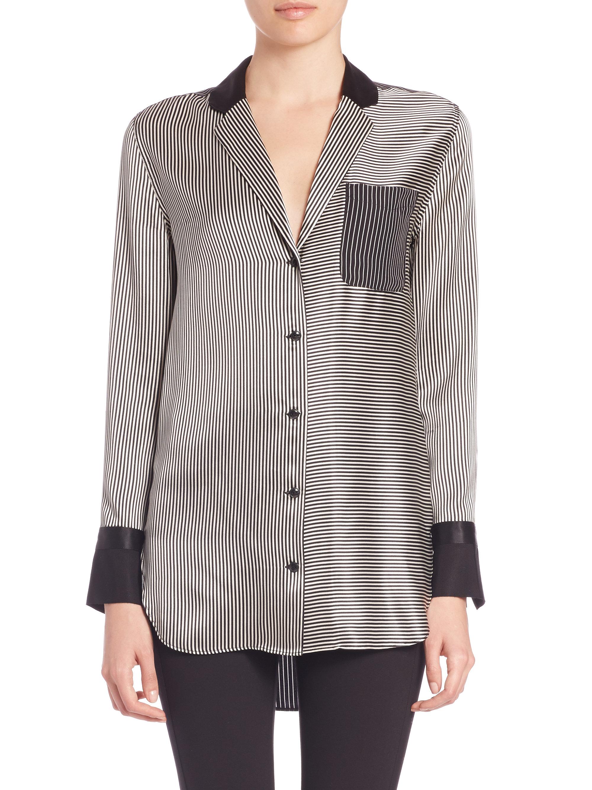 Rag & Bone Silk Button-Up Top Clearance Best Seller Fb3wIsZvN9