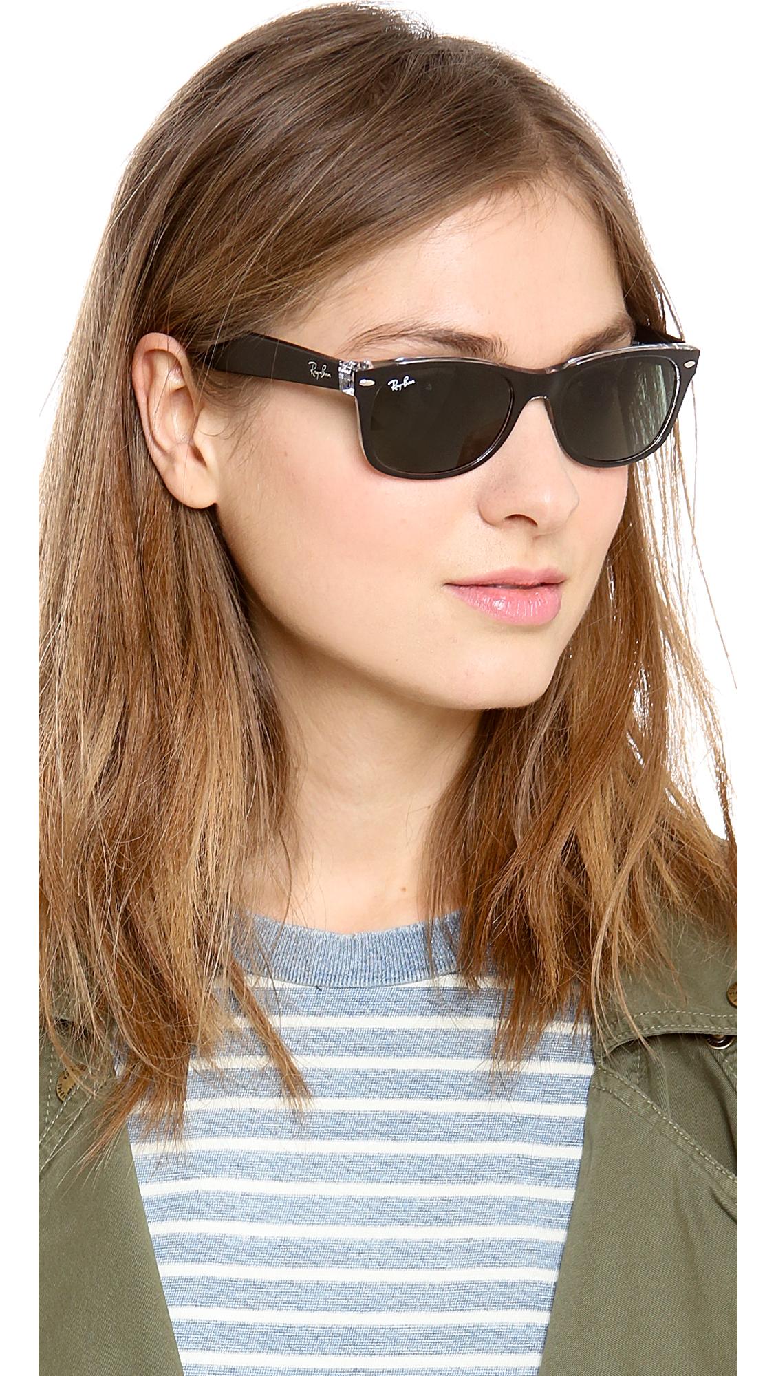 2a0300d695d6 Ray-Ban New Transparent Wayfarer Sunglasses in Black - Lyst