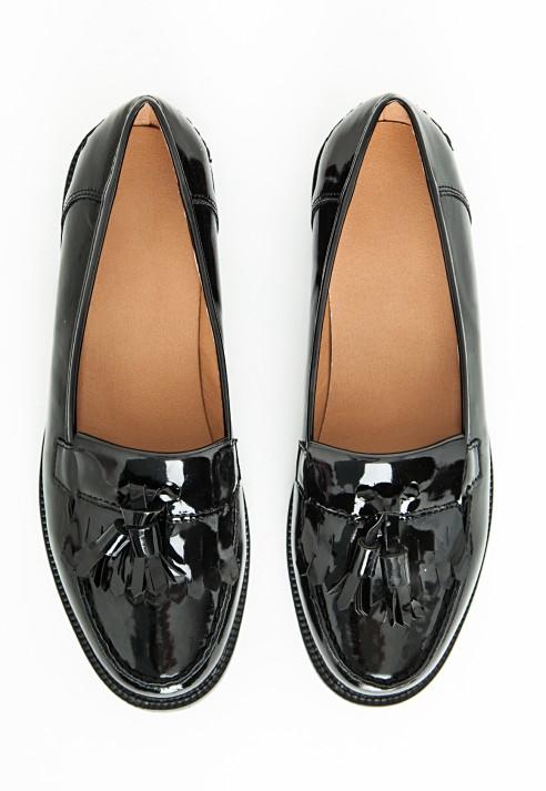 Missguided Tassel Fringe Loafers Black