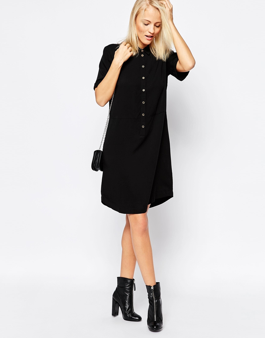 Black shirt dress - Gallery
