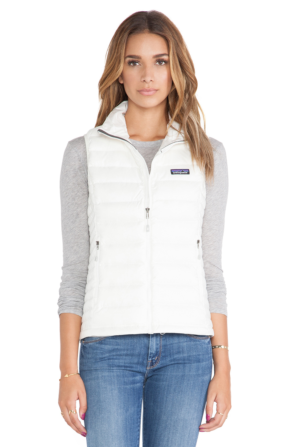 Patagonia Down Sweater Vest In White Lyst