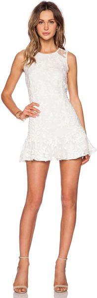 Line & dot Tina Dress in White