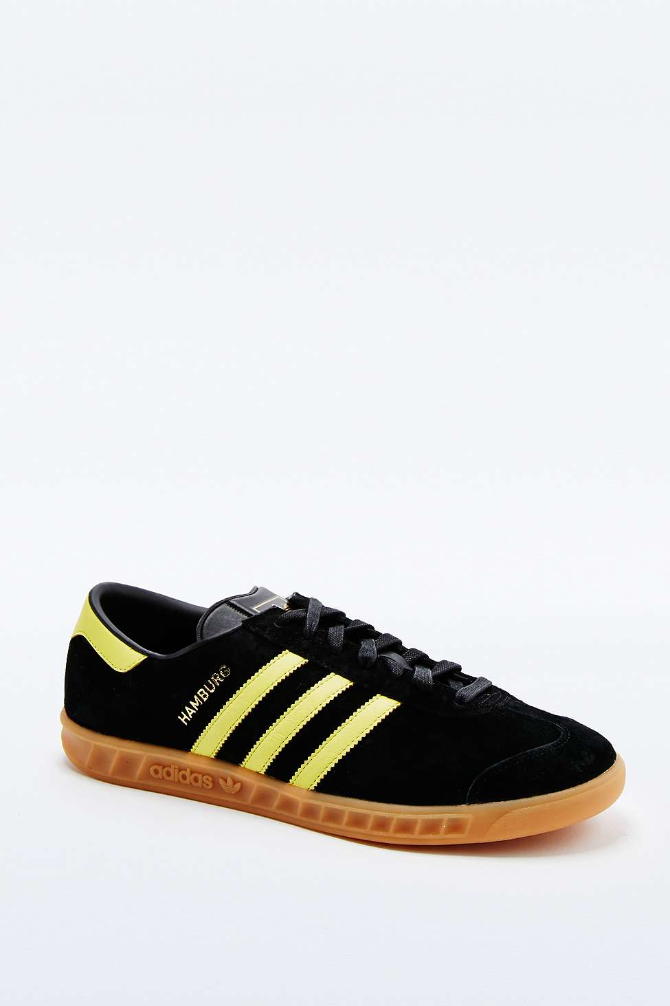 huge discount 7888c 4f967 adidas Originals Hamburg Black And Yellow Trainers in Black