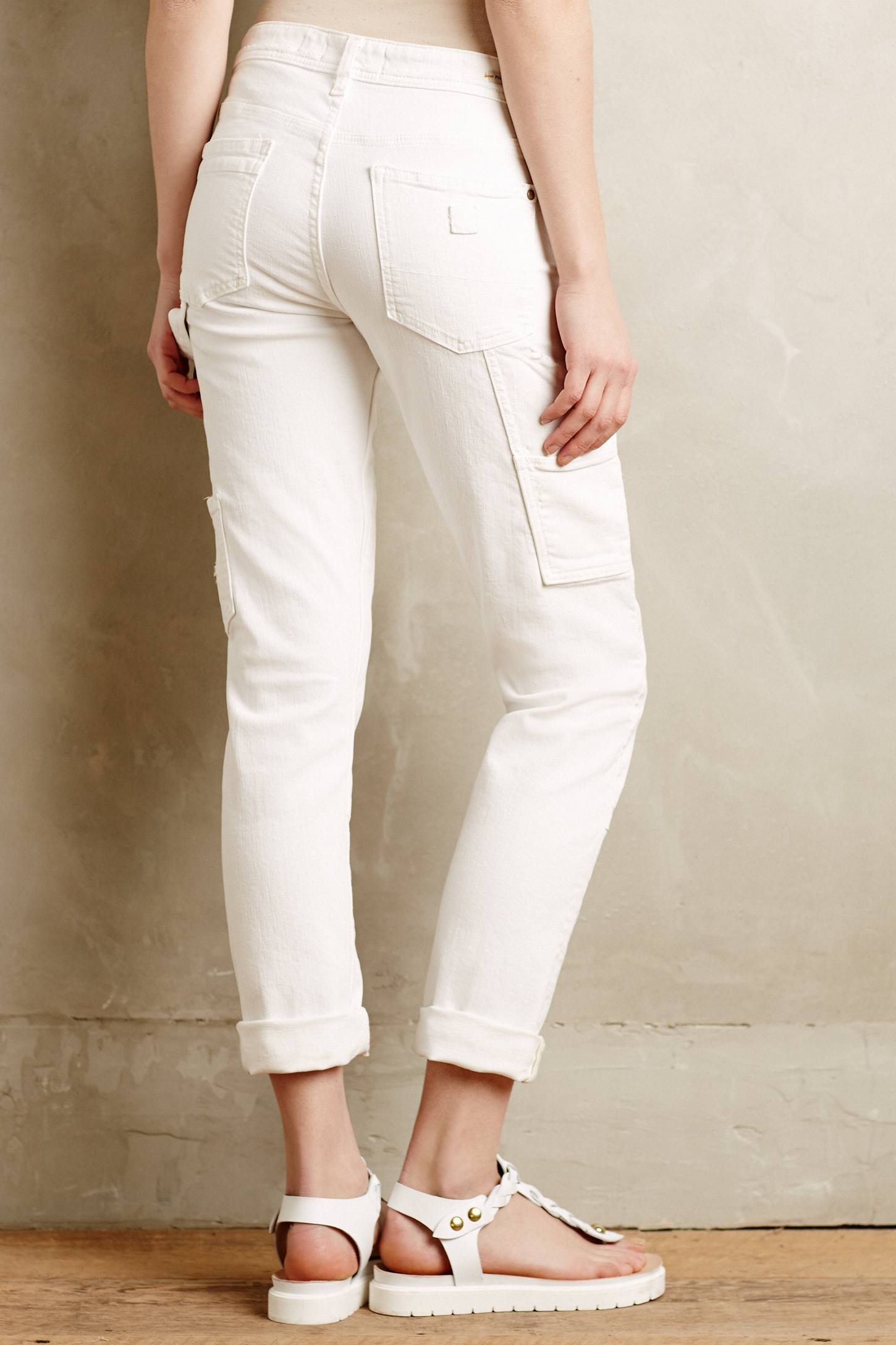 Pilcro Hyphen Carpenter Jeans in White | Lyst
