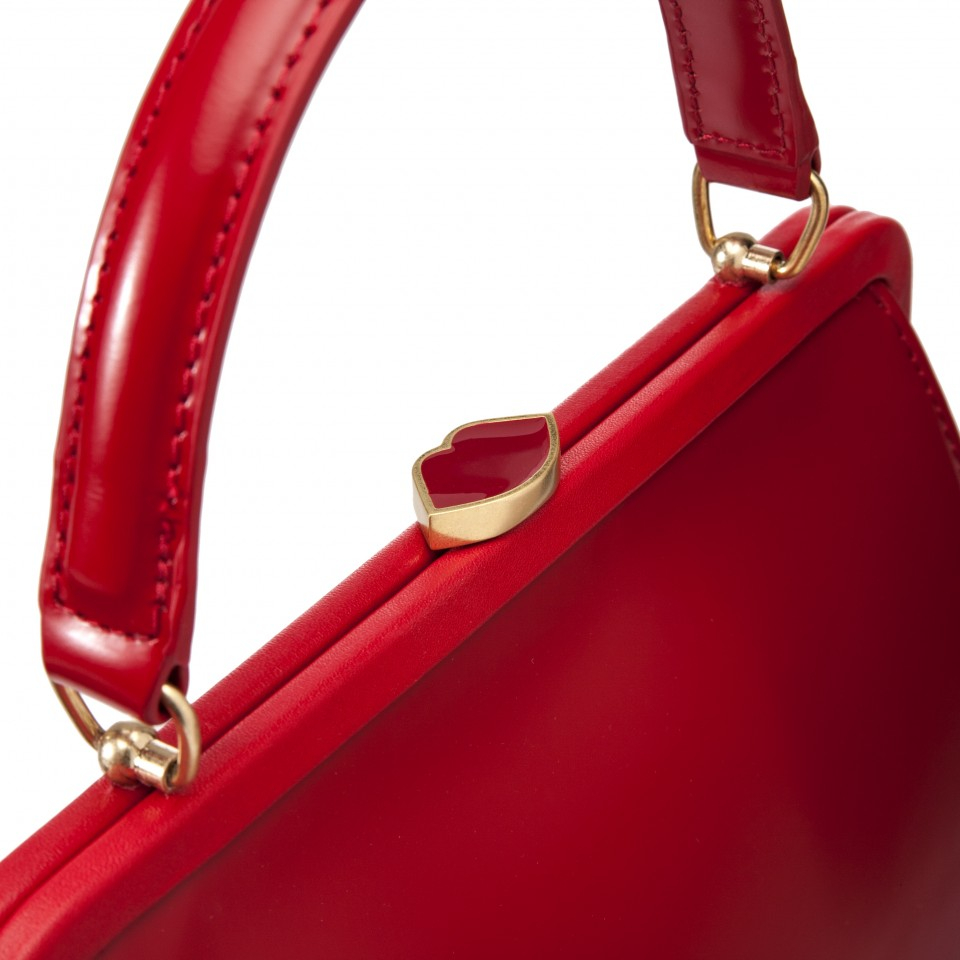 f8485db8176 Lulu guinness red polished leather small eva in red lyst jpg 960x960 Red lulu  guinness handbag