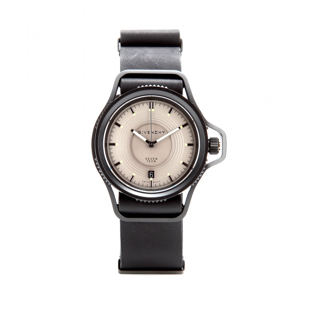 Givenchy seventeen stainless steel watch in gray grey lyst for Givenchy watches