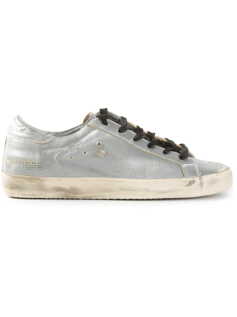 lyst golden goose deluxe brand 39 super star 39 sneakers in metallic. Black Bedroom Furniture Sets. Home Design Ideas