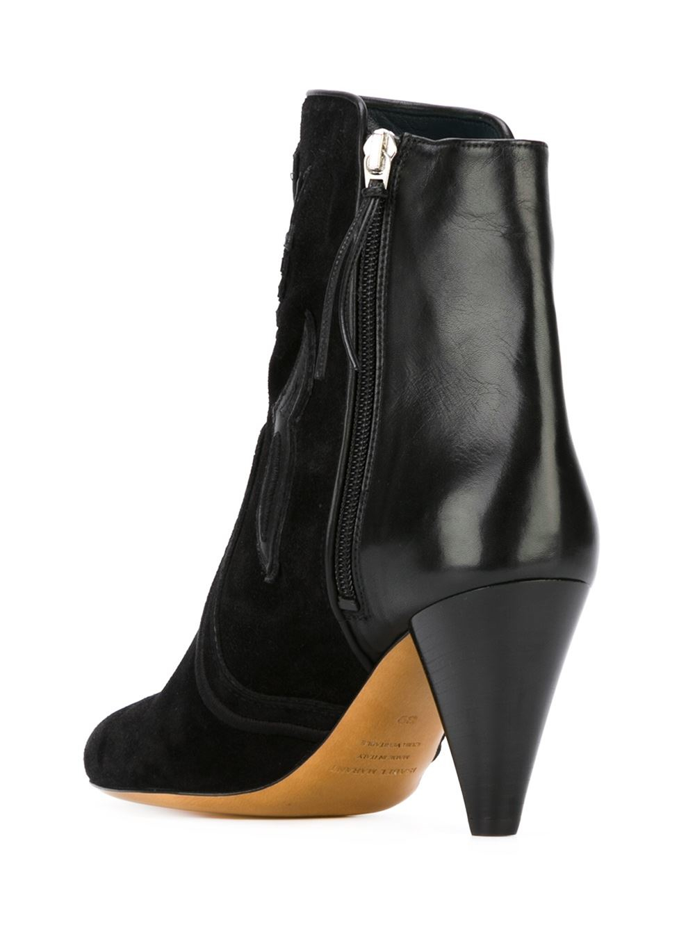isabel marant lola farrah leather and suede boots in black lyst. Black Bedroom Furniture Sets. Home Design Ideas