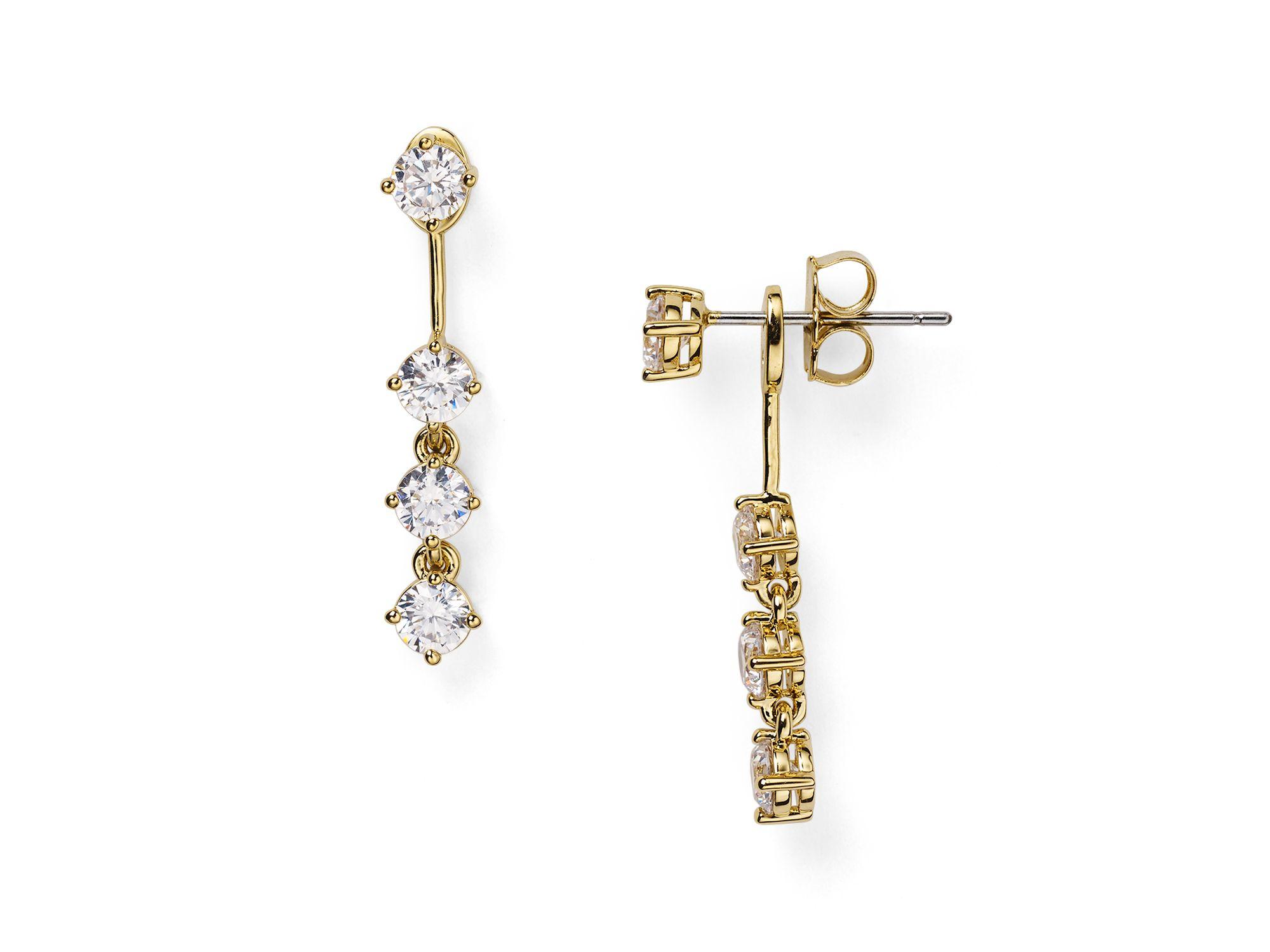 Nadri Front Back Earrings In Metallic Lyst