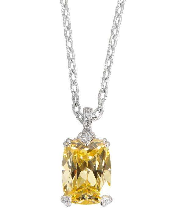 Lyst judith ripka canary crystal and white sapphire lola pendant gallery aloadofball Images